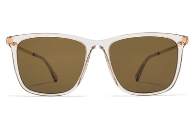 MYKITA Sunglasses - Jovva Champagne/Glossy Gold with Raw Brown Solid Lenses
