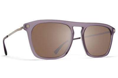 MYKITA - Kallio Sunglasses Matte Smoke/Matte Silver with Polarized Pro Hi-Con Brown Lenses