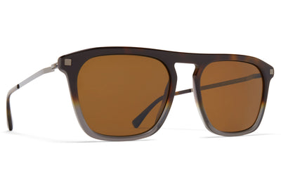 MYKITA - Kallio Sunglasses Santiago Gradient/Shiny Graphite with Polarized Pro Amber Brown Lenses