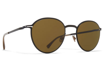 MYKITA - Kasimir Sunglasses Black with Raw Brown Solid Lenses