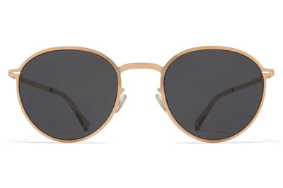 MYKITA - Kasimir Sunglasses Champagne Gold with Dark Grey Solid Lenses