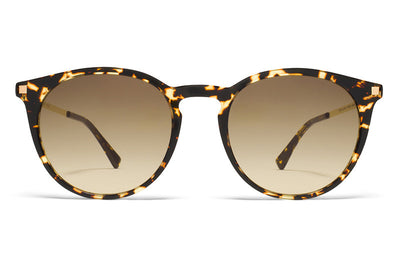 MYKITA Sunglasses - Keelut Trinidad/Glossy Gold with Brown/Brown Gradient Lenses