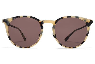 MYKITA Sunglasses - Keelut with Nose Pads Creamy Cookie/Black with Brown Solid Lens