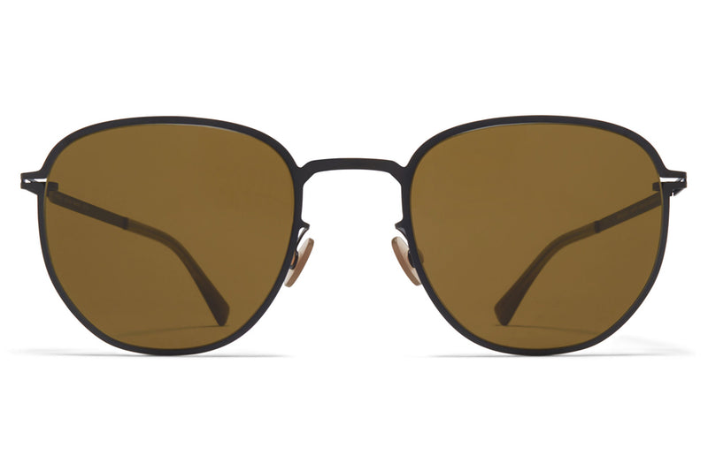 MYKITA - Lennard Sunglasses Black with Raw Brown Solid Lenses