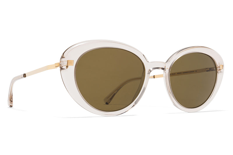 eee382d01 MYKITA Sunglasses - Luava Champagne/Glossy Gold with Raw Brown Solid Lenses