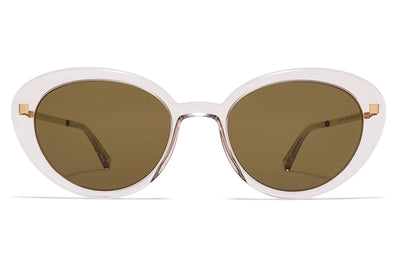 MYKITA Sunglasses - Luava Champagne/Glossy Gold with Raw Brown Solid Lenses