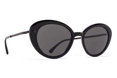 MYKITA Sunglasses - Luava Black/Black with Dark Grey Solid Lenses