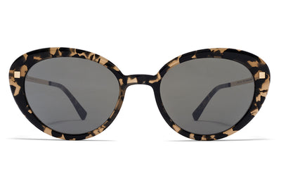 MYKITA Sunglasses - Luava Antigua/Champagne Gold with Mirror Black Lenses