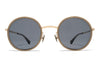 MYKITA Sunglasses - Meja Champagne Gold/Taupe with Dark Blue Solid Lenses