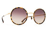 MYKITA Sunglasses - Meja Glossy Gold/Trinidad with Brown/Brown Gradient Lenses