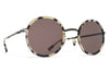 MYKITA Sunglasses - Meja Black/Creamy Cookie with Brown Solid Lenses