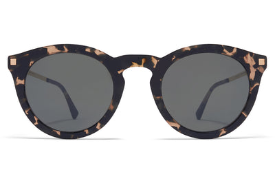 MYKITA - Meriwa Sunglasses Antigua/Champagne Gold with Mirror Black Solid Lenses