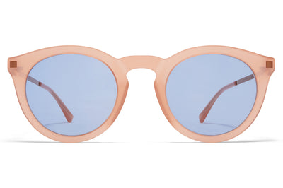 MYKITA - Meriwa Sunglasses Rhubarb Sorbet/Shiny Copper with Sky Blue Solid Lenses