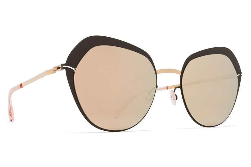 MYKITA Sunglasses - Mette Champagne Gold/Dark Brown with Champagne Gold Lenses
