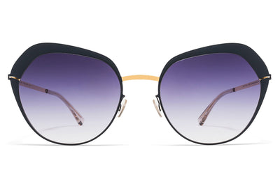 MYKITA Sunglasses - Mette Gold/Indigo with Grey Gradient Lenses
