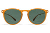 MYKITA Sunglasses - Nukka Dark Amber/Glossy Gold with Dark Green Solid Lenses