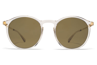 MYKITA Sunglasses - Oki Champagne/Glossy Gold with Raw Brown Solid Lenses