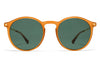 MYKITA Sunglasses - Oki Dark Amber/Glossy Gold with Dark Green Solid Lenses