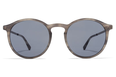 MYKITA Sunglasses - Oki Grey Havana/Shiny Graphite with Dark Blue Solid Lenses