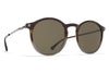 MYKITA Sunglasses - Oki Santiago Gradient/Shiny Graphite with Raw Green Solid Lenses