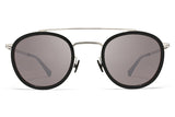 MYKITA Sunglasses - Olli Shiny Silver/Storm Grey with Dark Purple Flash Lenses