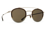 MYKITA Sunglasses - Olli Shiny Graphite/Santiago Gradient with Raw Green Lenses