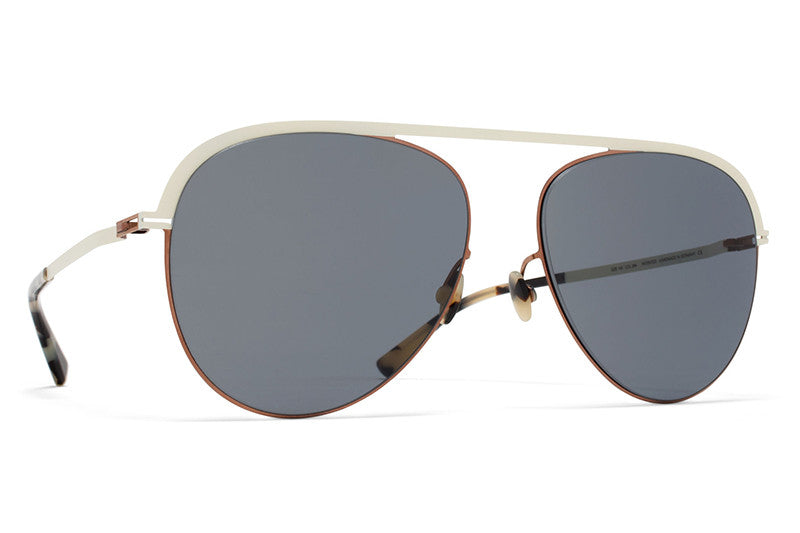MYKITA Sunglasses - Onno Shiny Copper with Dark Blue Solid Lenses