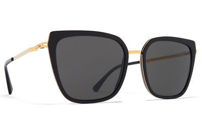 Glossy Gold/Black with Dark Grey Solid Lenses