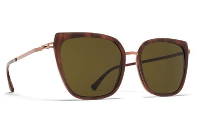 MYKITA - Sanna Sunglasses Purple Bronze/Bora Bora with Raw Green Lenses