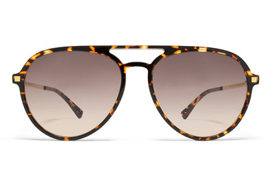 MYKITA Sunglasses - Sanuk Trinidad/Glossy Gold with Brown/Brown Gradient Lenses