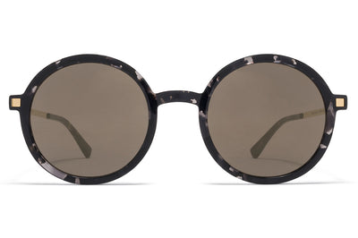 MYKITA - Tolco Sunglasses Black Havana/Glossy Gold with Brilliant Grey Solid Lenses
