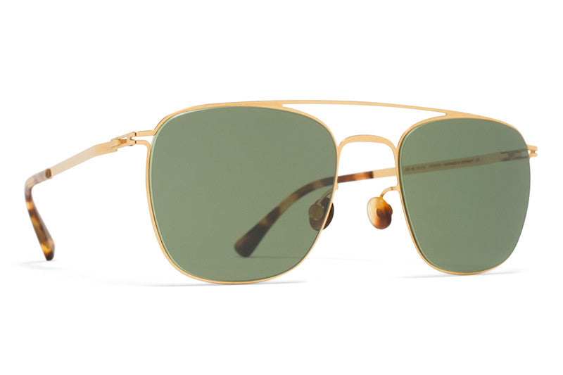 MYKITA Sunglasses - Torge Glossy Gold with MY+ Fern Polarized Lenses
