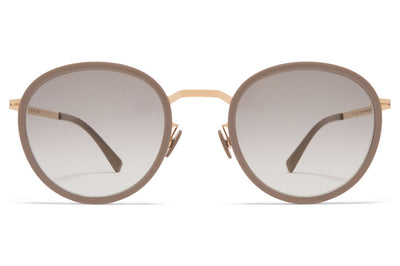 MYKITA - Tuva Sunglasses Champagne Gold/Brown Grey with Original Grey Gradient Lenses