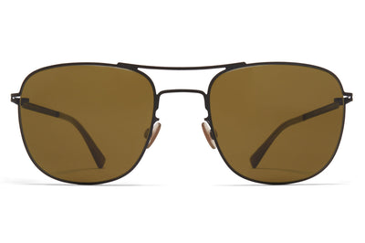 MYKITA - Vito Sunglasses Black with Raw Brown Solid Lenses