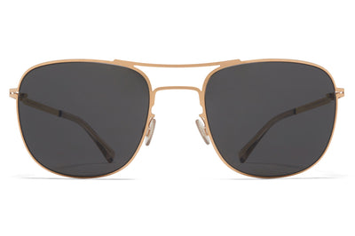 MYKITA - Vito Sunglasses Champagne Gold with Dark Grey Solid Lenses