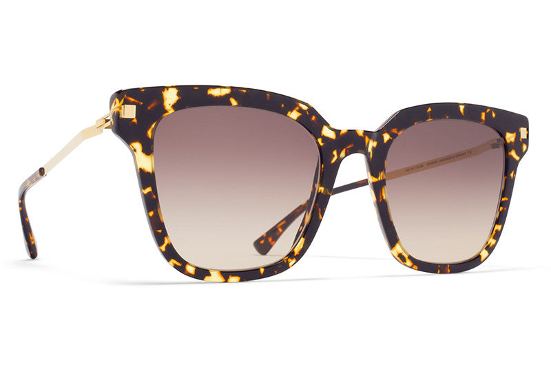 MYKITA Sunglasses - Yuka Trinidad/Glossy Gold with Brown/Brown Gradient Lenses