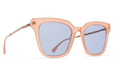MYKITA Sunglasses - Yuka Rhubarb Sorbet/Shiny Copper with Sky Blue Solid Lenses