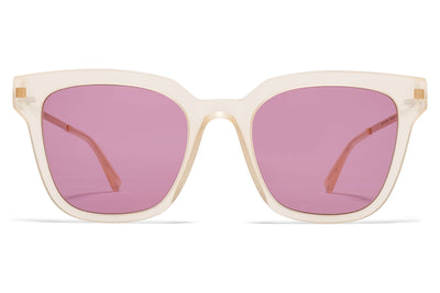 MYKITA Sunglasses - Yuka Melon Sorbet/Champagne Gold with Plum Solid Lenses