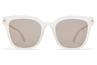 MYKITA Sunglasses - Yuka Lemon Sorbet/Glossy Gold with Smoke Brown Solid Lenses