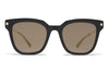 MYKITA Sunglasses - Yuka Black/Glossy Gold with Brilliant Grey Solid Lenses