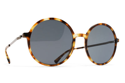 MYKITA Sunglasses - Anana Cocoa Sprinkles/Shiny Graphite with Dark Blue Solid Lenses