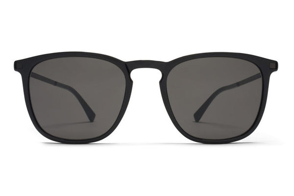 MYKITA Sunglasses - Atka Black/Black with Dark Grey Solid Lenses