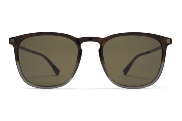 MYKITA Sunglasses - Atka Santiago Gradient/Shiny Graphite with Raw Green Solid Lenses