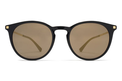 MYKITA Sunglasses - Keelut Black/Glossy Gold with Brilliant Grey Solid Lenses