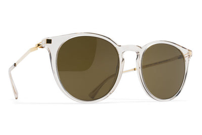 MYKITA Sunglasses - Keelut Champagne/Glossy Gold with Raw Brown Solid Lenses