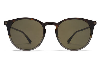 MYKITA Sunglasses - Keelut Santiago Gradient/Shiny Graphite with Raw Green Solid Lenses