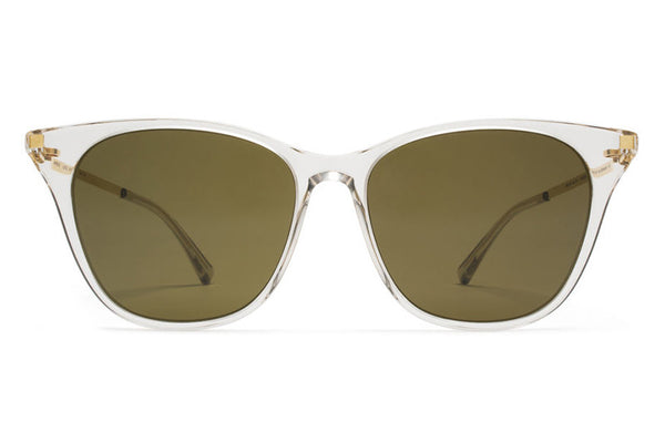 MYKITA Sunglasses - Nilak Champagne/Glossy Gold with Raw Brown Solid Lenses