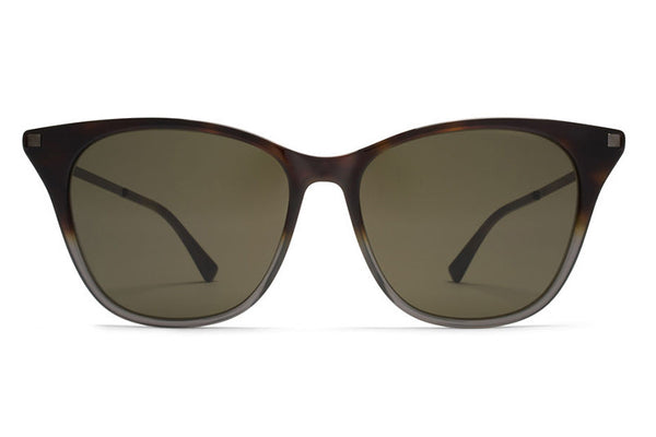 MYKITA Sunglasses - Nilak Santiago Gradient/Shiny Graphite with Raw Green Solid Lenses