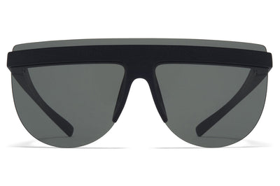 MYKITA + Maison Margiela - MMCIRCLE001 Sunglasses MD1 - Pitch Black with Dark Grey Solid Lenses