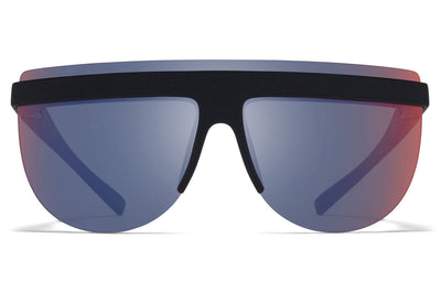 MYKITA + Maison Margiela - MMCIRCLE001 Sunglasses MD1 - Pitch Black with Infrared Flash Lenses